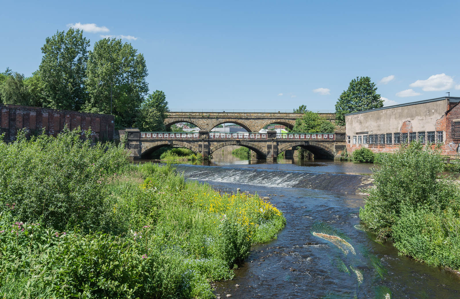 The Norfolk Bridges Weir, River Don by John Gorman